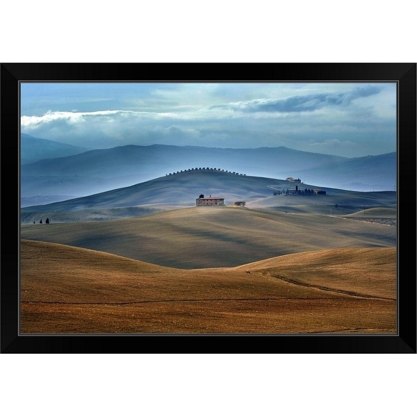 """In The Middle Of"" Black Framed Print"