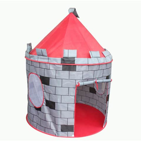 Portable Blue Boys Folding Tent Play House /Pink Pop Up Play Tent Kids Girl Princess Castle Fairy Outdoor indoor House - Red