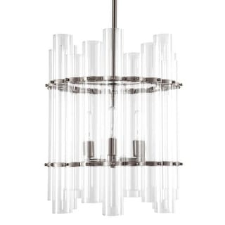 "Park Harbor PHPL5633 17"" Wide 3 Light Foyer Pendant with Glass Cylinder Accents"