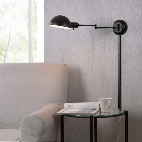 Carbon Loft Ida Oil Rubbed Bronze Wall Swing Arm Lamp