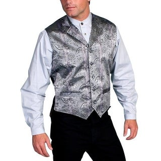 Scully Old West Vest Mens Paisley Cover Button Formal Polyester RW114