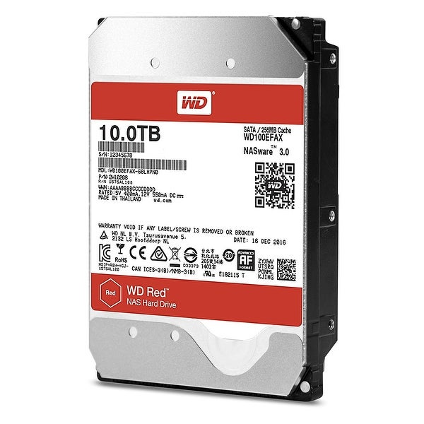 "Wd Red Wd100efax 10Tb 3.5"" Enterprise Hdd 7200 Rpm Sata 6Gb/S 256Mb Cache"