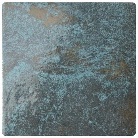 SomerTile 6x6-inch Ocean Green River Porcelain Floor and Wall Tile