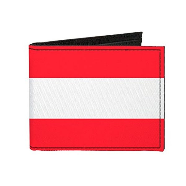 Buckle-Down Canvas Bi-fold Wallet - Austria Flag Accessory