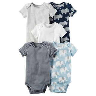Carter's Baby Boys' 5-Pack Short-Sleeve Original Bodysuits