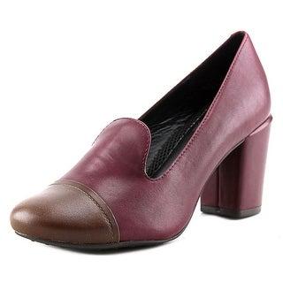 Easy Spirit Pearsal Round Toe Leather Heels