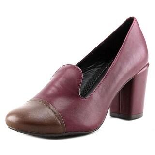 Easy Spirit Pearsal W Round Toe Leather Heels