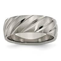 Titanium Swirl Design 8mm Satin Band