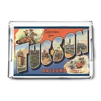 Tucson, Arizona - Large Letter Scenes (Acrylic Serving Tray)