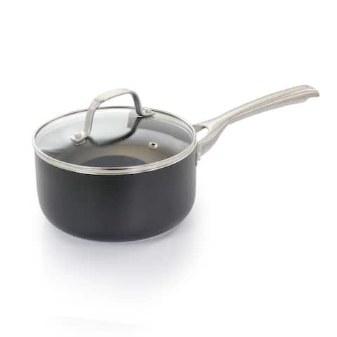 Oster Palladium 2.5 Quart Aluminum Sauce Pan with Glass Lid