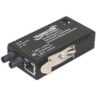 """""""Transition Networks M/E-ISW-FX-01 Transition Networks M/E-ISW-FX-01 Fast Ethernet Media Converter - 1 x Network (RJ-45) - 1 x"""