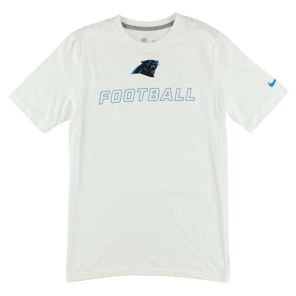 eb423dfe3 Shop Nike Mens Carolina Panthers Training Day T Shirt White - White Black Blue  - s - Free Shipping On Orders Over  45 - Overstock.com - 22615405