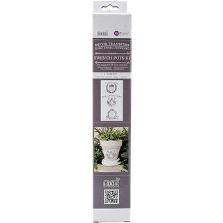 8.5 x 17 in. Iron Orchid Designs Decor Transfer Rub-Ons - 6 in.