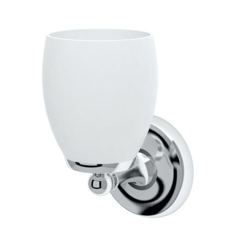 Gatco 1640 Designer II Single Light Bathroom Sconce with Frosted Glass Shade