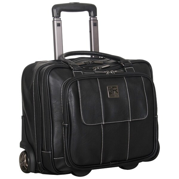 Kenneth Cole Reaction Pebbled Faux Leather Dual Compartment 2-Wheeled 16-inch Laptop Carry-on Business Overnighter. Opens flyout.