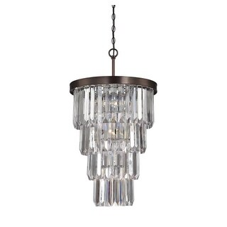 """Savoy House 3-9801-7 Tierney 7 Light 19"""" Wide 1 Tier Chandelier with Crystal Accents"""