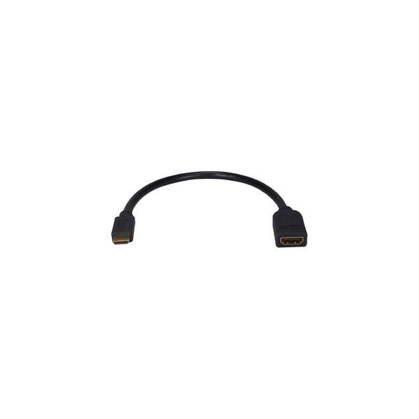 QVS HDAC-MF QVS High Speed HDMI Female to Mini HDMI Male Digital A/V HD Camera Conversion Cable - HDMI for Audio/Video Device,