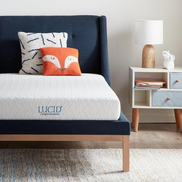 LUCID Comfort Collection Dual Layered 5-inch Gel Memory Foam Mattress. Opens flyout.
