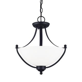 Sea Gull Lighting 77270-839 2-Light Semi Flush Convertible Pendant Blacksmith - blacksmith finish