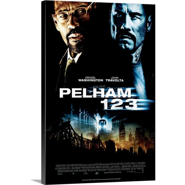 """The Taking of Pelham 123 - Movie Poster - Spanish"" Canvas Wall Art"
