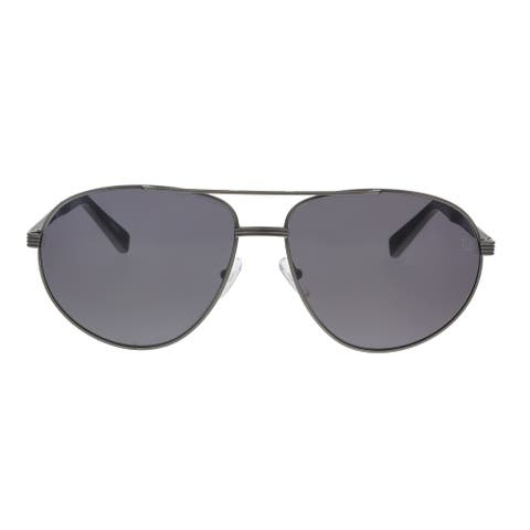Ermenegildo Zegna EZ0030/S 09A Black/Grey Aviator Sunglasses - 62-15-145