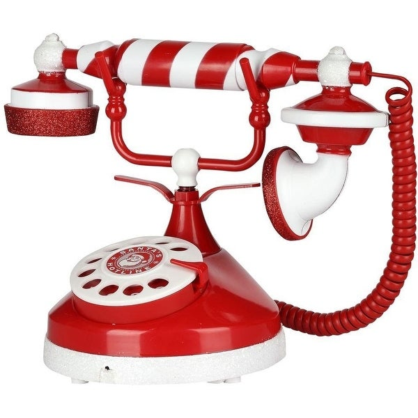 Shop Gemmy 38396 Santa S Candy Stripe Holiday Telephone For
