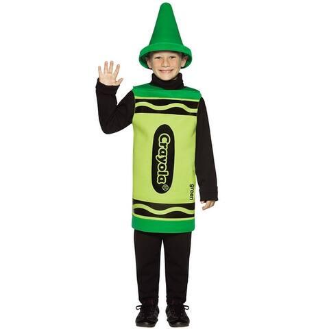Rasta Imposta Crayola Green Child Costume (4-6X) - Solid