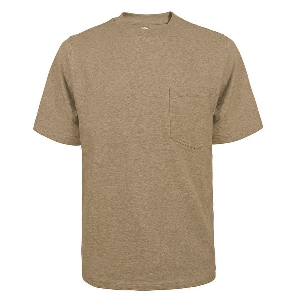 Victory Outfitters Mens Fortified Cotton Extra Length Single Pocket Crewneck T-Shirts