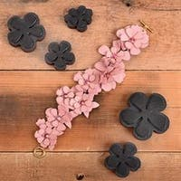 Leather Carnations-Sizzix Movers & Shapers Magnetic Die Set By Jill Mackay (R)