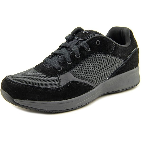 Easy Spirit Tourrun Women Round Toe Suede Black Walking Shoe
