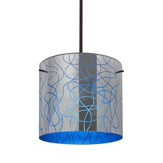 """Besa Lighting 1TT-LITH12-LED Lithium Single Light 11-3/4"""" Wide LED Pendant with (5 options available)"""