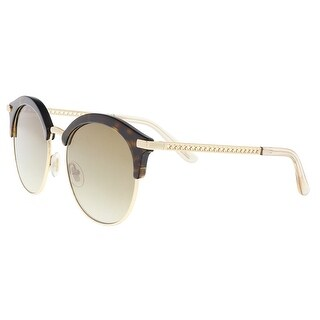 Link to Jimmy Choo HALLY/S 0086 Dark Havana Round Sunglasses - 55-19-140 Similar Items in Designer Handbags