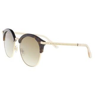 Jimmy Choo HALLY/S 0086 Dark Havana Round Sunglasses - 55-19-140