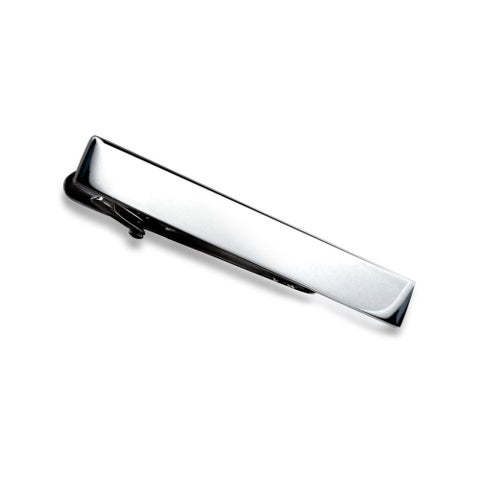 Bling Jewelry Polished Stainless Steel Rectangular Mens Skinny Tie Clip