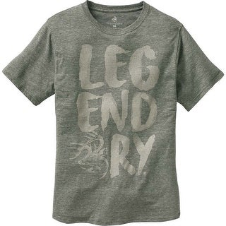 Legendary Whitetails Men's Wilderness Short Sleeve T-Shirt - loden heather