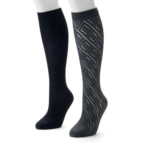 Apt. 9 Women's 2-Pairs Knee-Highs Socks - 9-11