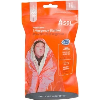 SOL Survive Outdoors Longer Heatsheets Wind and Waterproof Emergency Blanket