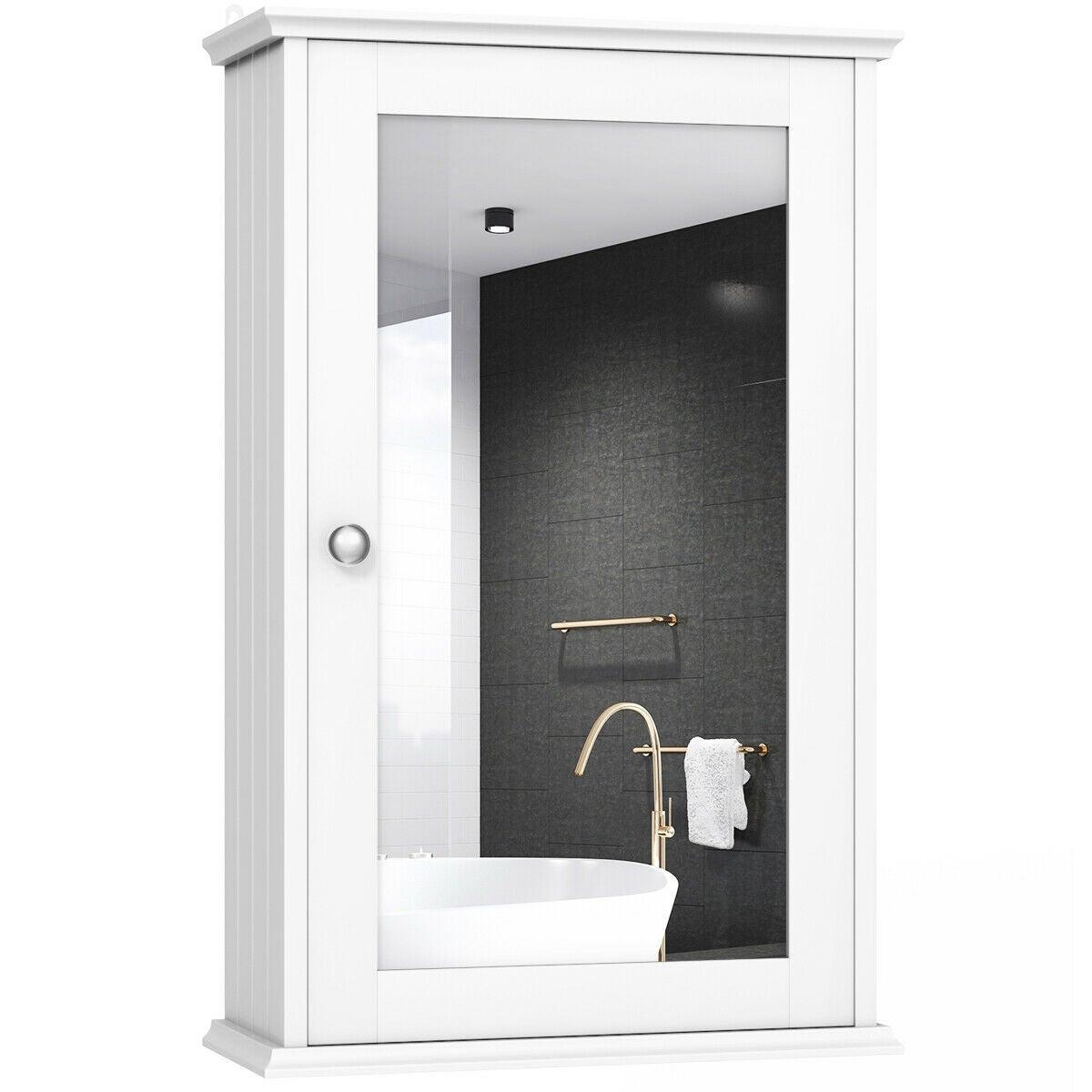 Bathroom Wall Cabinet Single Mirror