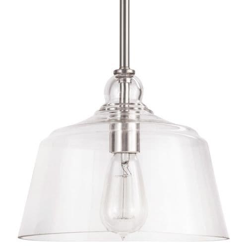 "Park Harbor PHPL5551 Eastland 9"" Wide Single Light Mini Pendant with Cloche Dome Shade"