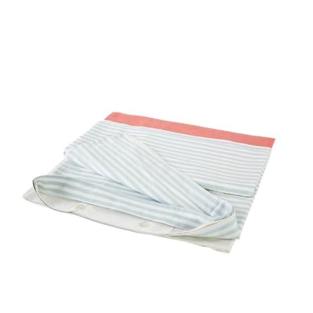 Stripe Duvet Cover Ginger & Aqua
