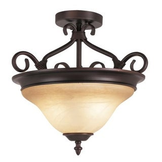 Trans Globe Lighting 70220 3 Light Semi-Flush Ceiling Fixture from the New Century Collection