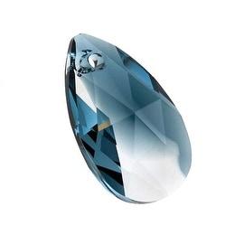 Swarovski Crystal, 6106 Pear Pendant 22mm, 1 Piece, Crystal / Montana Blend
