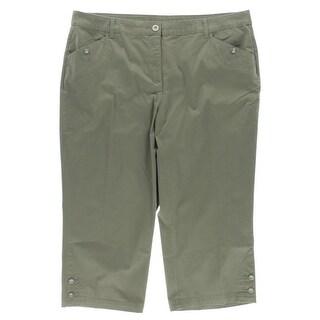 Karen Scott Womens Plus Capri Pants Denim Cropped - 16W