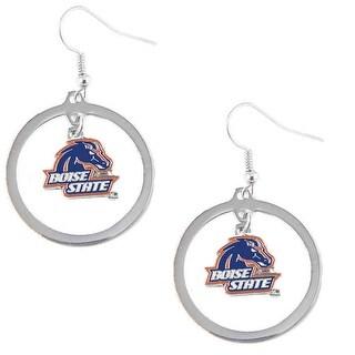 Boise State Broncos Hoop Logo Earring Set NCAA Charm
