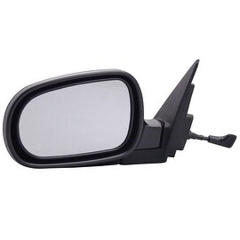 Pilot Automotive TYC 4700112 Black Passenger/ Driver Side Manual Remote Replacement Mirror for Honda Accord