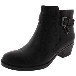 Naturalizer Womens Zakira Ankle Boots Leather Buckle