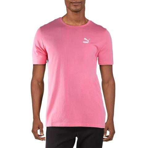 Puma Mens T-Shirt Running Fitness - Puma White/Puma Black - L