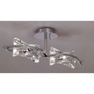 Mantra Lighting 889 Krom 2 Light Semi-Flush Ceiling Fixture
