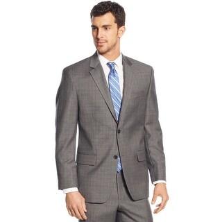 Michael Kors Classic Fit Grey Plaid Wool Sportcoat Blazer 46 Regular 46R
