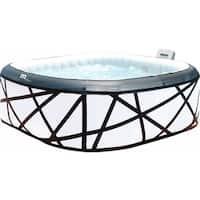 MSpa Soho Silver & Black Hot Tub, 6 Person Inflatable Square Bubble Spa / M-029S